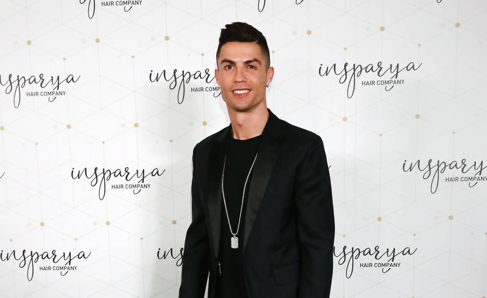 Cristiano Ronaldo durante la inauguración de la clínica de implantes capilares que inauguró en Madrid el pasado lunes.