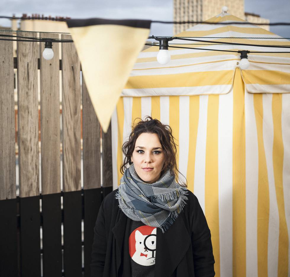 La cantante Zaz, cuyo verdadero nombre es Isabelle Geffroy, en París.