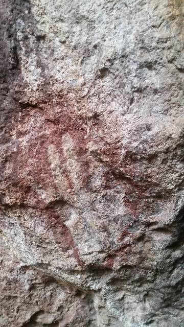 Pinturas paleolíticas de la Cueva de las Manos, donde se hallan restos arqueológicos de los pobladores originarios de Patagonia.