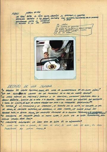 Uno de los cuadernos de Ferrán Adrià digitalizados para el proyecto de Google Arts & Culture 'España: cocina abierta'.