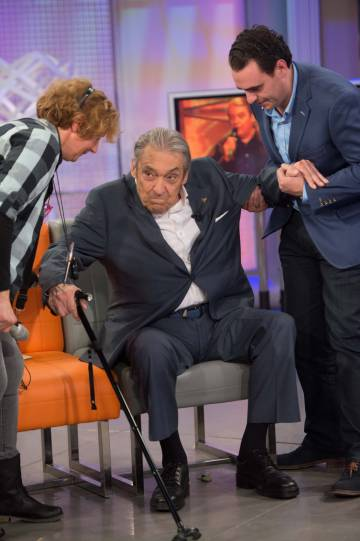 El cantautor Alberto Cortez en el programa de María Teresa Campos, en 2016.