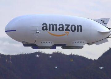 La broma que anuncia un futuro distópico: una nave de Amazon expulsa drones repartidores