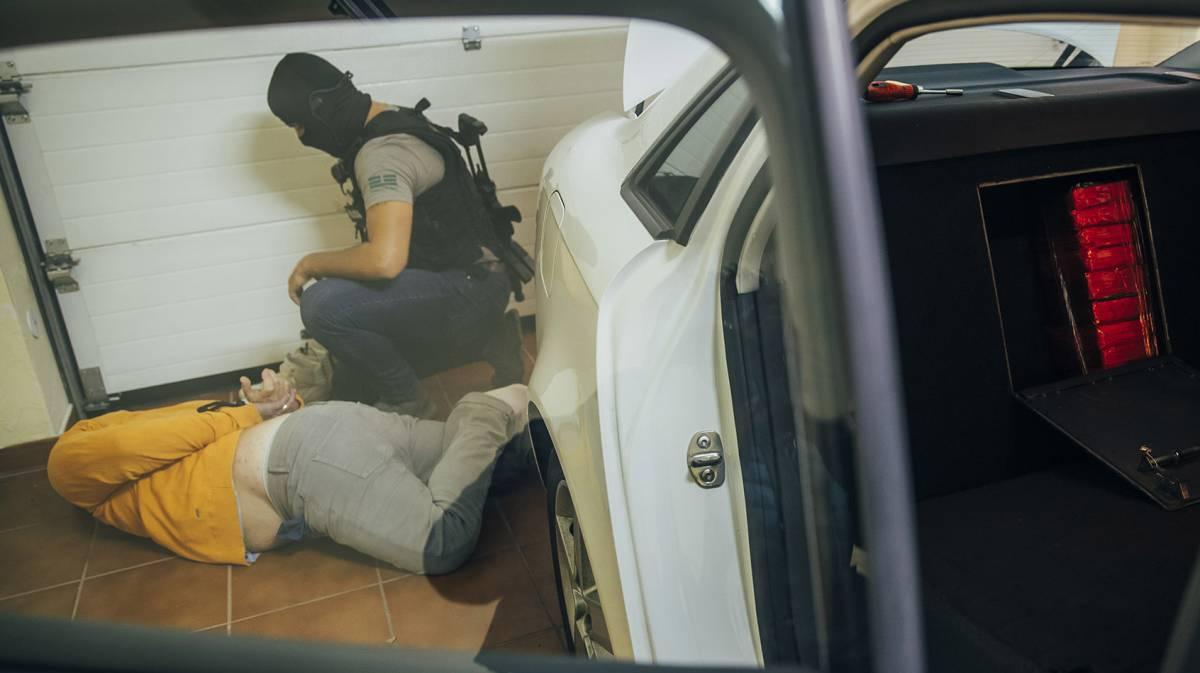 Un hombre que tenía cocaína en el coche.