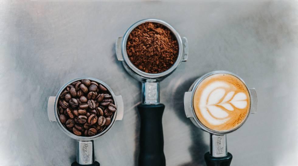 tipos de café servidos en un envase