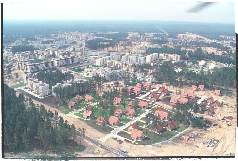 Panorâmica Pripyat depois do desastre em 1986. Ainda não tinha o aspecto fantasmagórico que aparenta no momento.