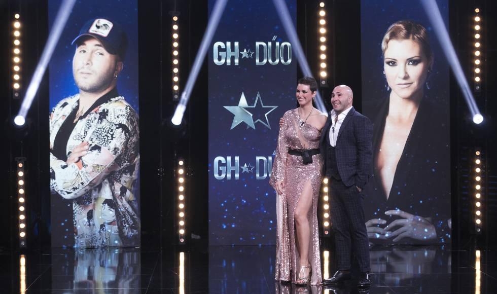 María Jesús Ruíz y Kiko Rivera durante la primera parte de la final de 'Gran Hermano Dúo'.