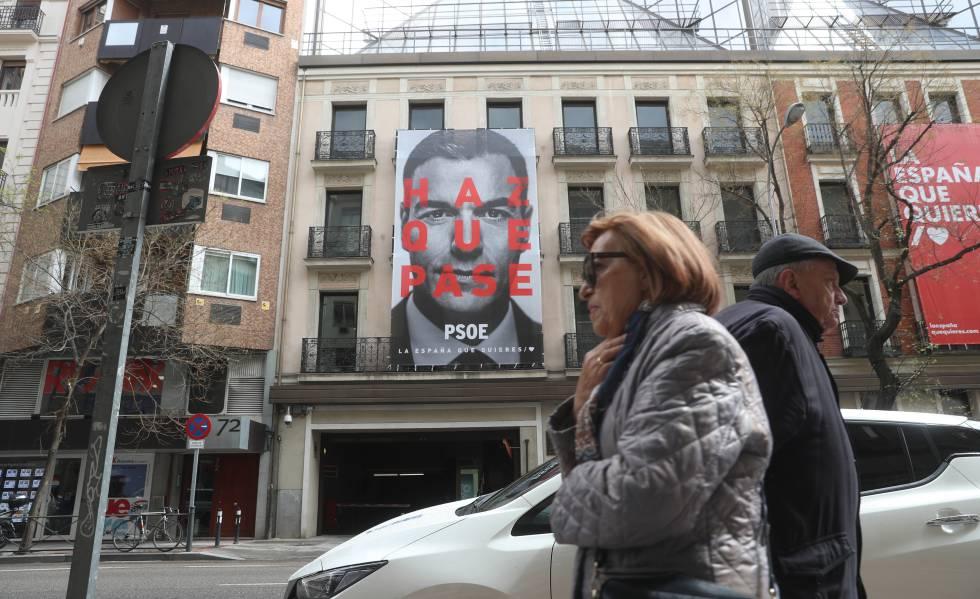 Cartel electoral del PSOE con el lema