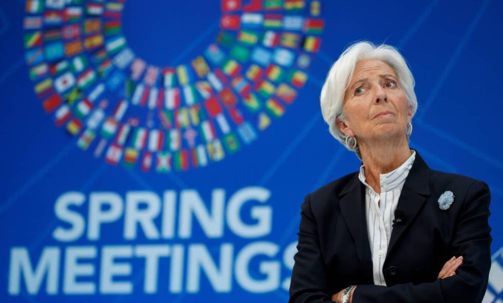 International Monetary Fund: Cherry blossoms and nervous bankers