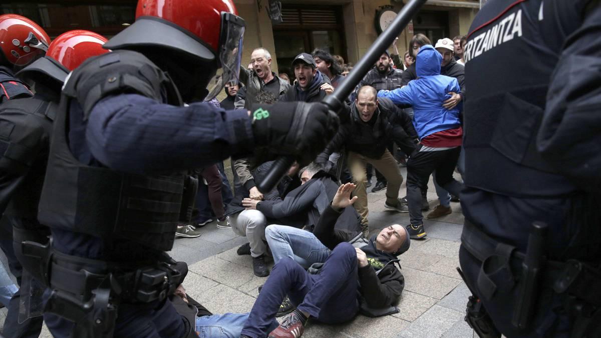 Incidentes en Errenteria tras el acto Ciudadanos