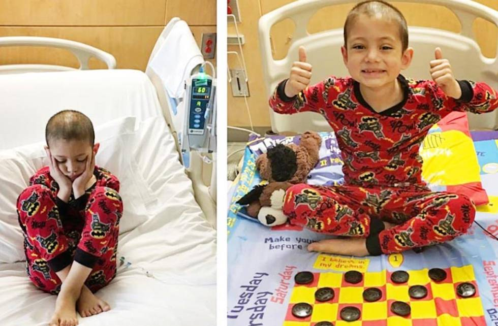 Un padre convierte las sábanas de los hospitales en un tablero de juegos interactivo para los niños ingresados