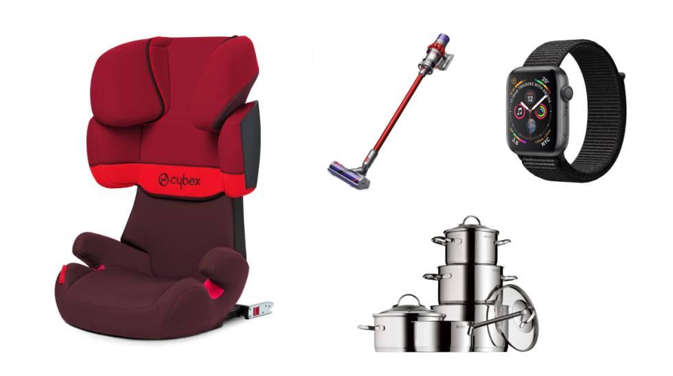 0ab002813bc De izquierda a derecha: silla para coche Cybex Solution X-Fix, aspirador  Dyson