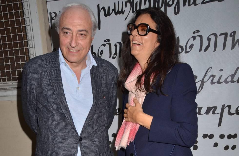 Françoise Bettencourt Meyers con su marido Jean Pierre Meyers en París en 2011.