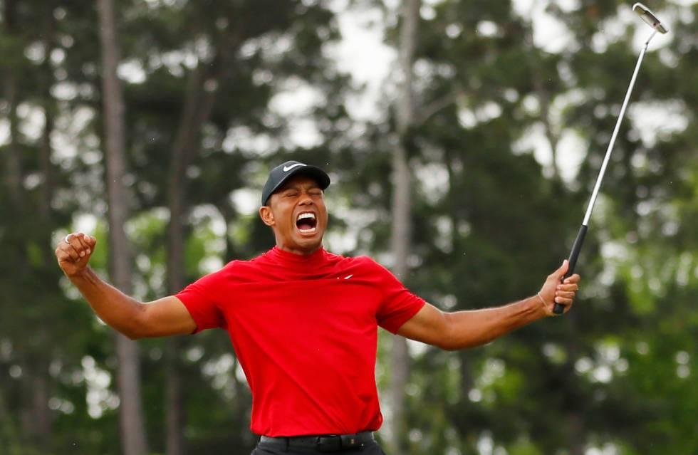 Tiger Woods celebra su victoria el pasado 14 de abril en el Masters de Augusta.