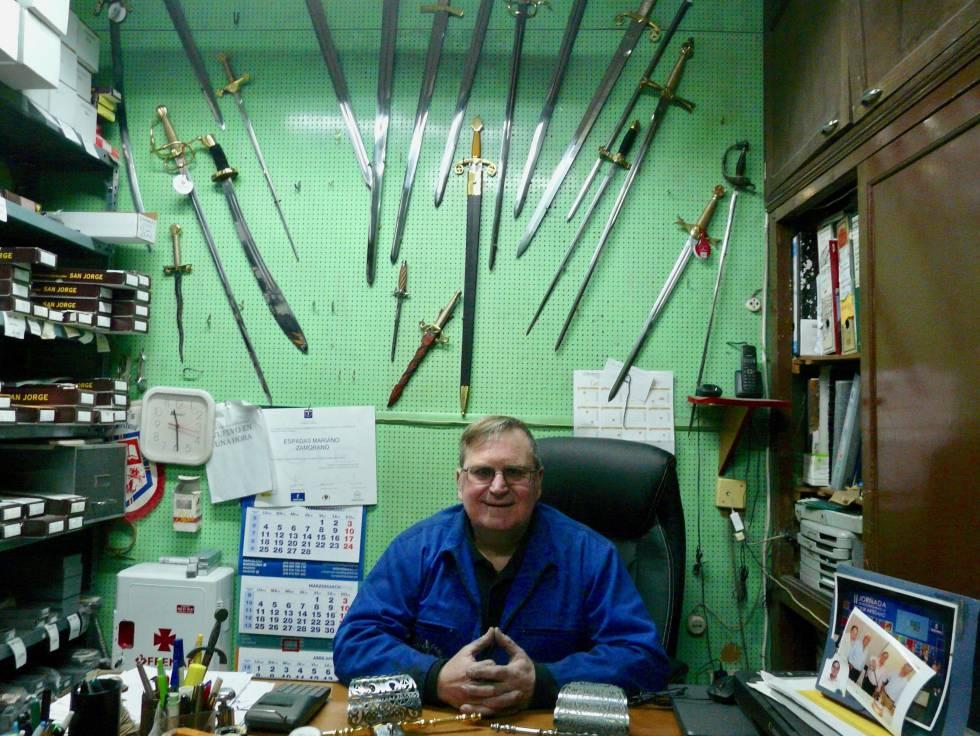 Mariano Zamorano in his office.
