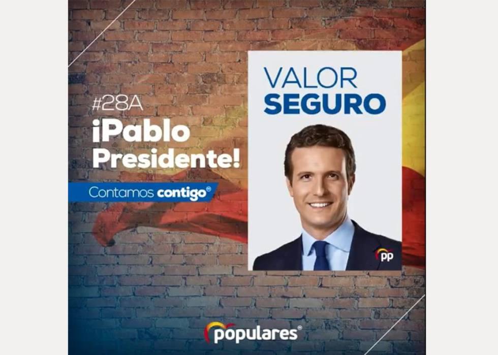 Cartel Pablo Casado