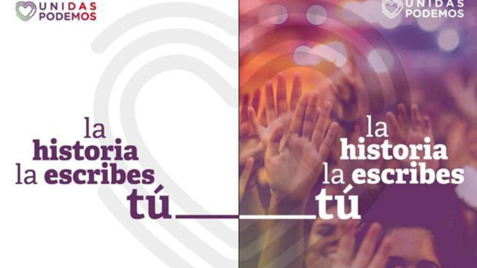 Cartel Unidas Podemos