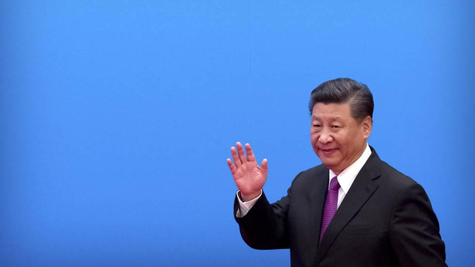 El presidente chino, Xi Jingping,durante su participación en la segunda edición del foro de la ruta de la seda,