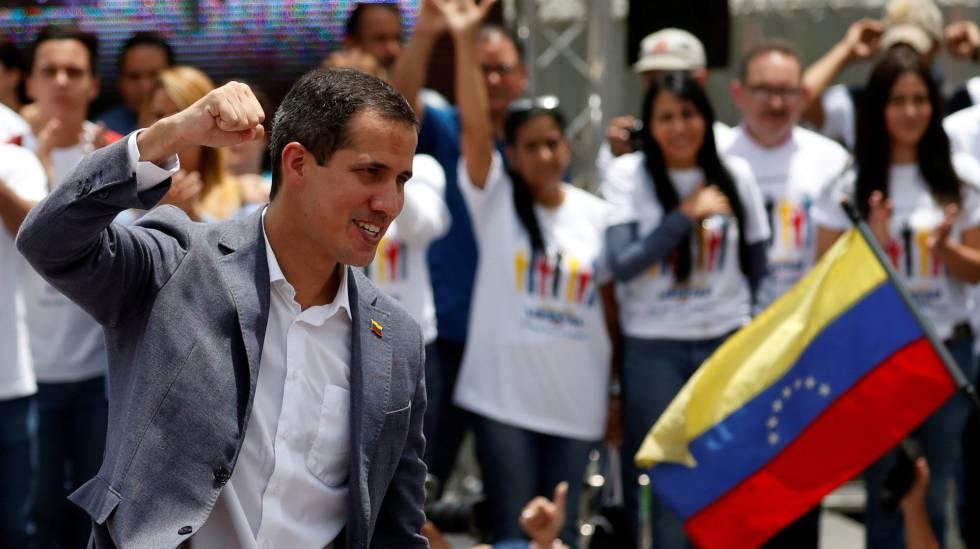 El líder opositor venezolano Juan Guaidó durante un acto en Caracas.