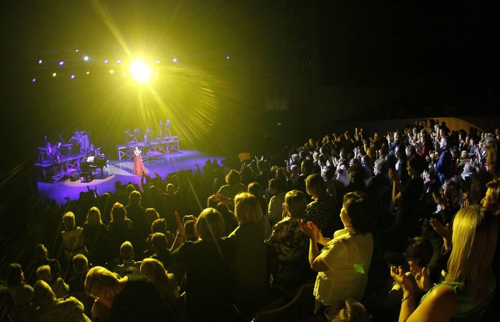 La cantante durante un concierto celebrado en Las Palmas en 2011.