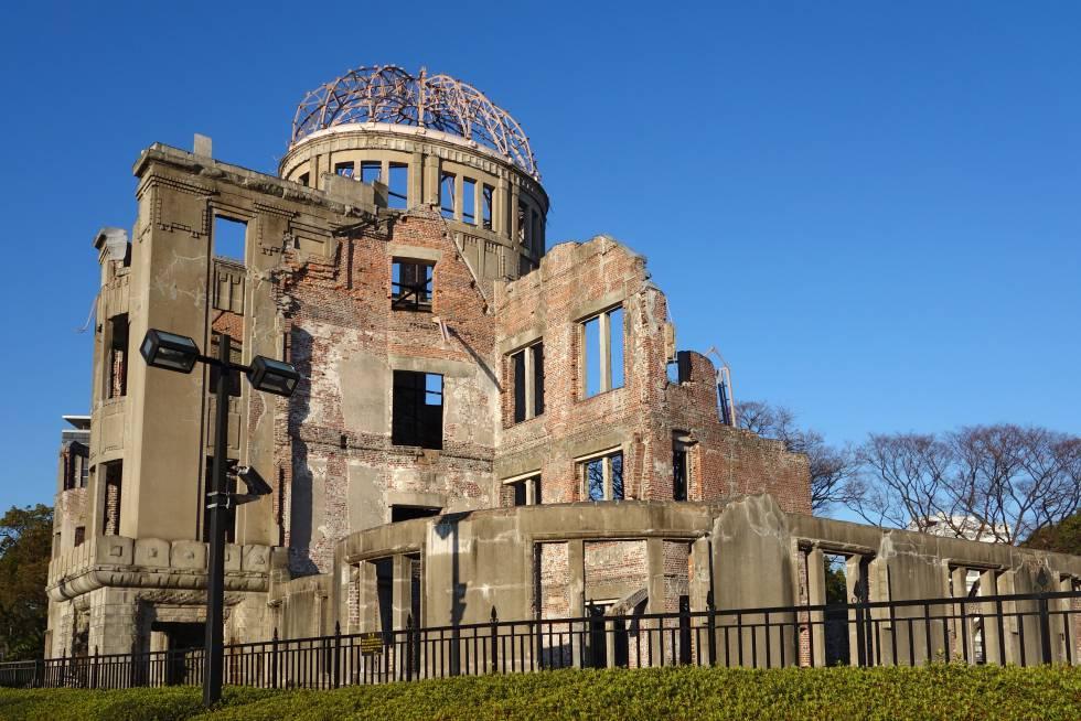 El único edificio que aguantó parcialmente en pie en un radio de 3,6 kilómetros es ahora un museo memorial del desastre atómico.