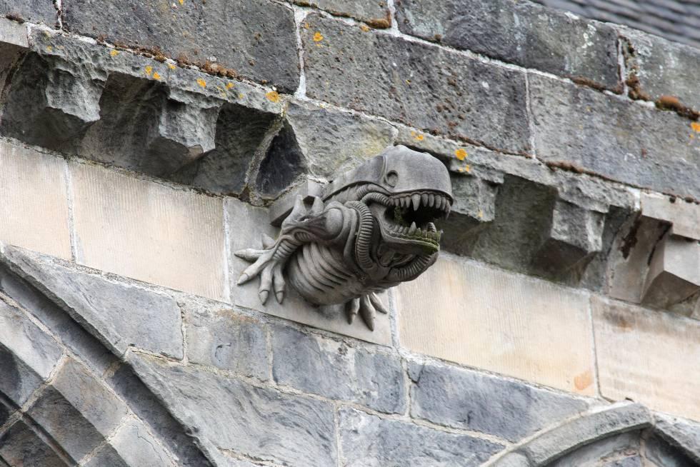 Una gárgola inspirada en 'Alien, el octavo pasajero', de Ridley Scott, en la abadía de Paisley, en Escocia.