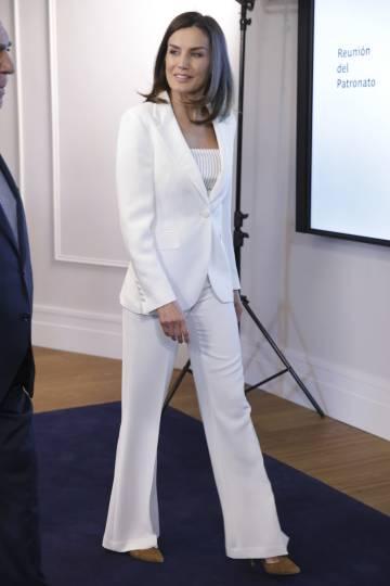 La Reina de en la Fundación Ayuda contra la Drogadiccion, el pasado jueves.