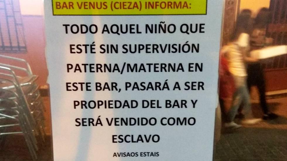 El Polémico Cartel Del Dueño De Un Bar De Murcia Harto De