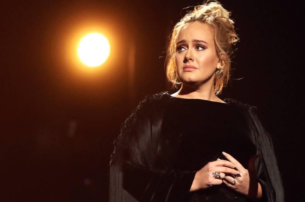 La cantante Adele, en una actuación en Los Ángeles.
