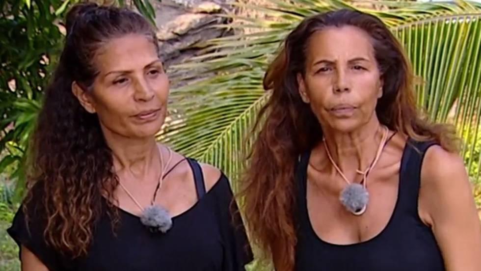Las Azúcar Moreno, Encarna y Toñi Salazar, en la isla.