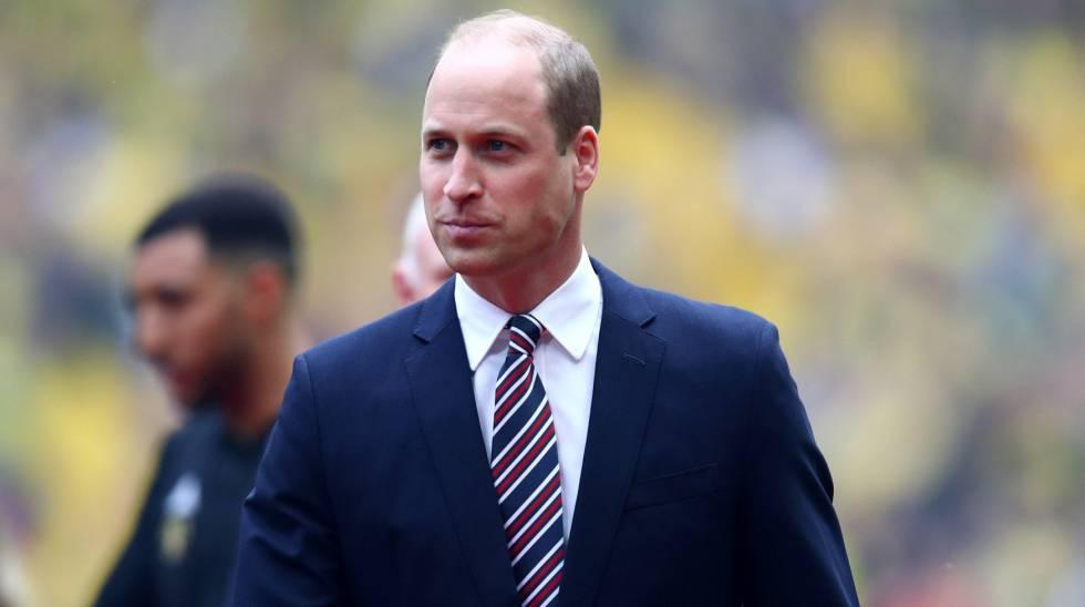 El príncipe Guillermo, en un partido de fútbol en Londres el 18 de mayo.