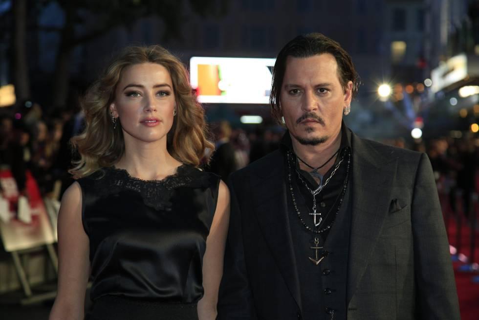 Amber Heard y Johnny Depp, cuando eran pareja.