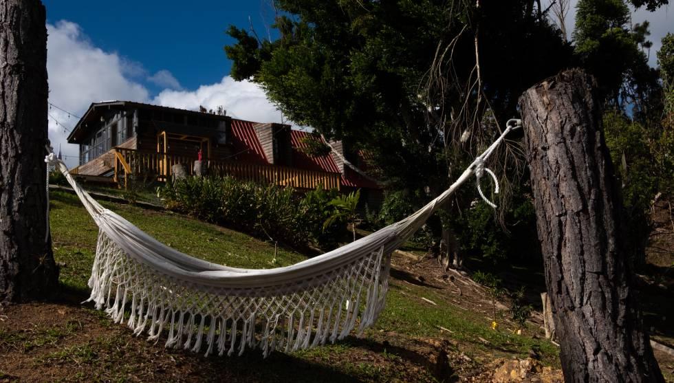 Una de las casas de huéspedes con jardín en El Pretexto.