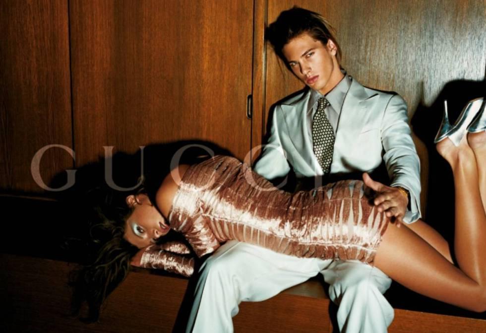 Un anuncio de Gucci de finales de los noventa.