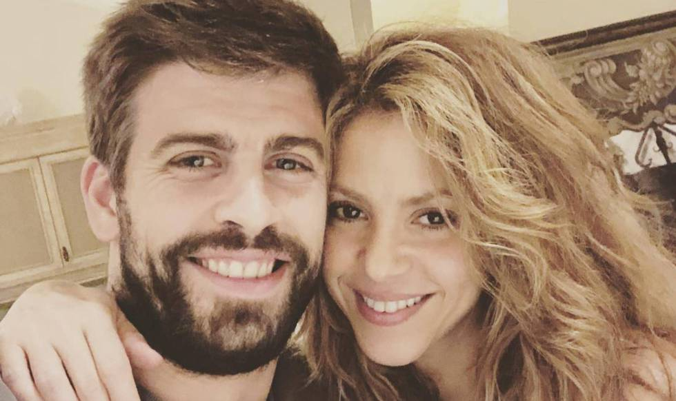 Gerard Piqué and Shakira, in a photo published by the soccer player on Instagram.