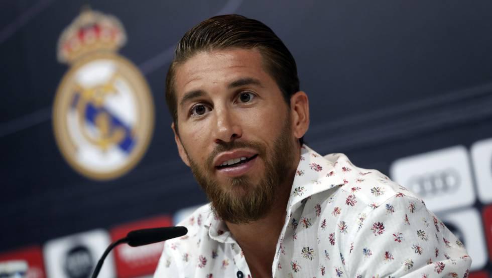 Sergio Ramos, en una rueda de prensa el 30 de mayo.