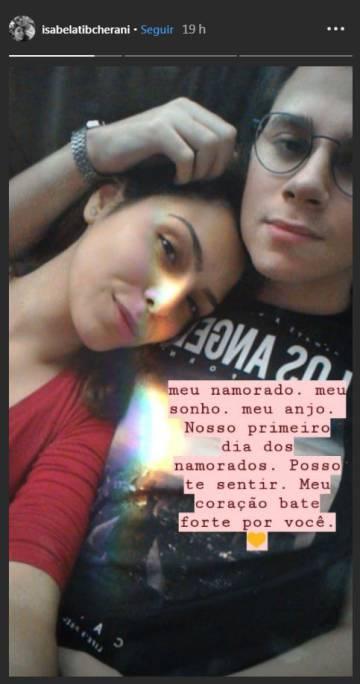 Isabela Tibcherani y Rafael Miguel, en una imagen colgada por ella en su perfil de Instagram.