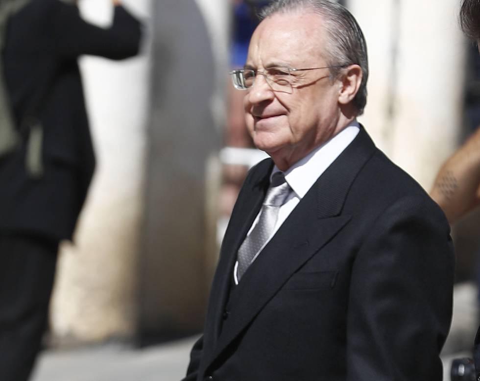 Florentino Pérez, presidente del Madrid, y testigo de la boda.