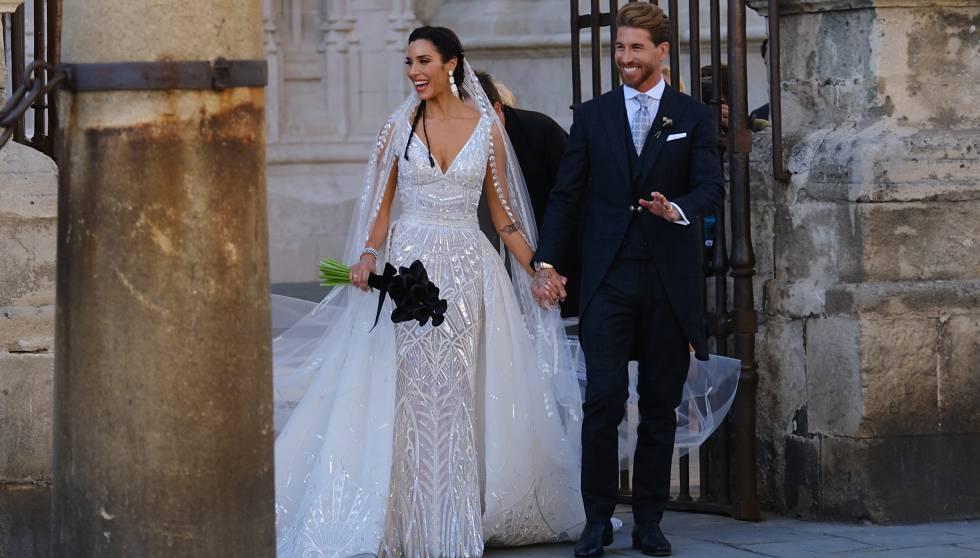 Sergio Ramos y Pilar Rubio se casan en una boda rockera flamenca