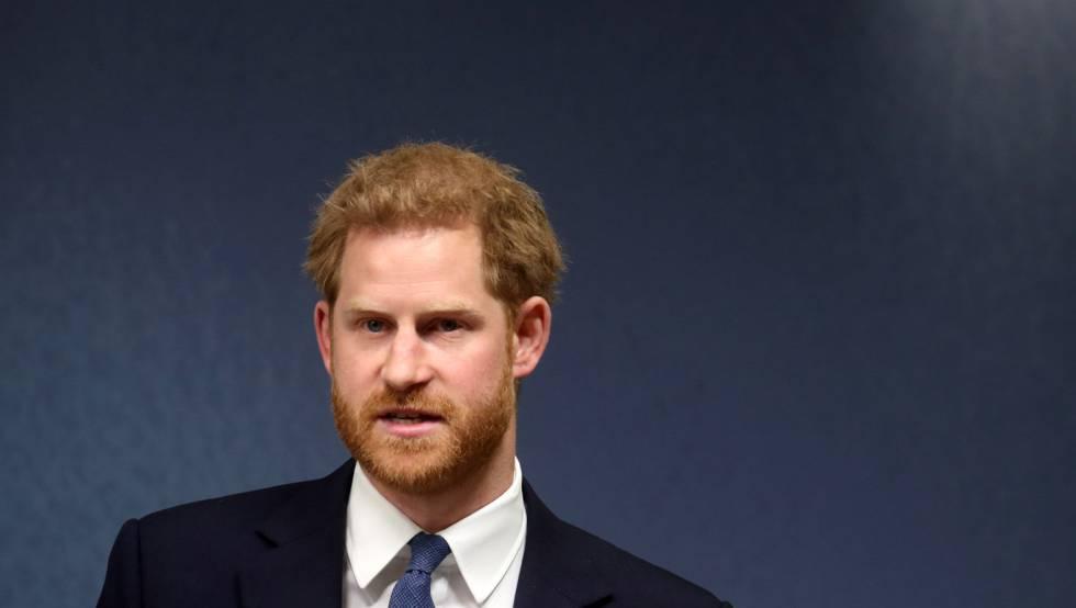 El príncipe Harry pronuncia un discurso sobre África el 17 de junio en Londres.