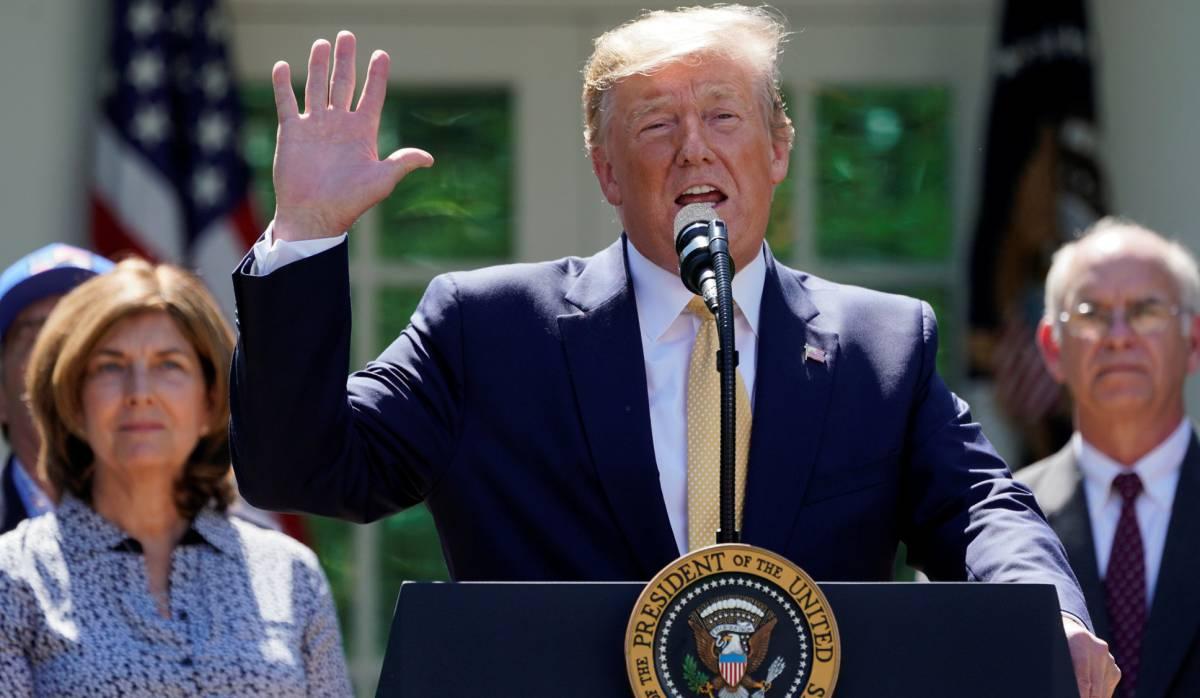Donald Trump, en un acto en Washington.