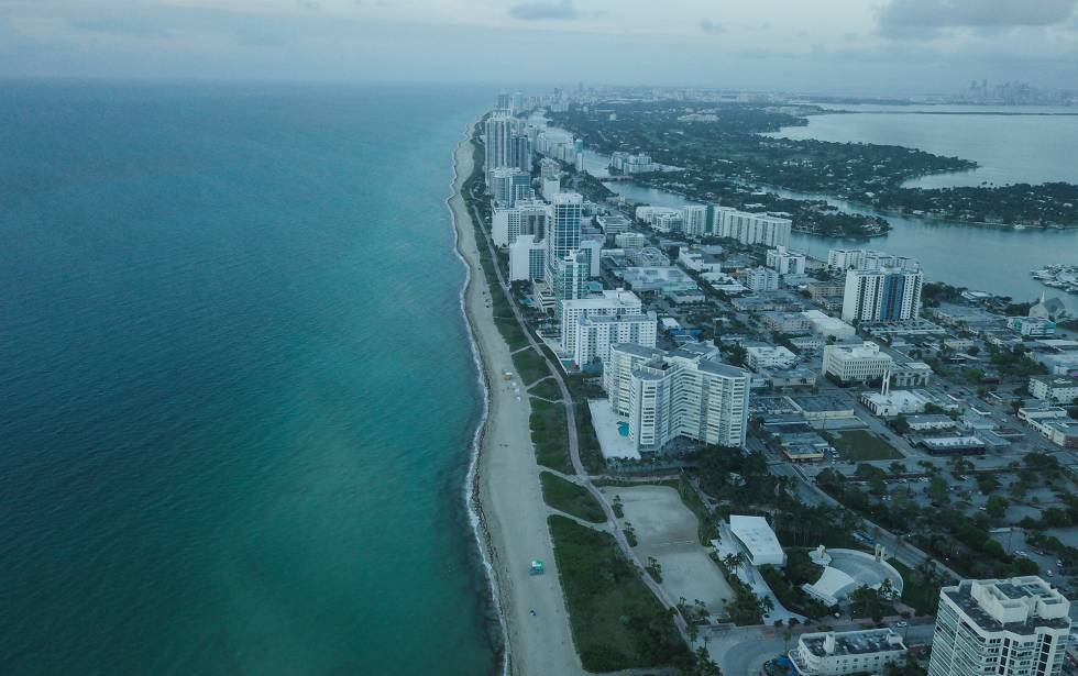 Vista aérea de Miami Beach.