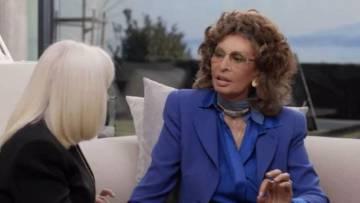 Raffaella Carrà y Sofia Loren, en el programa de la primera.