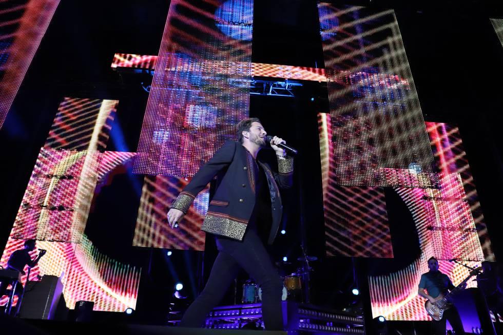 Manuel Carrasco en un concierto de su gira actual celebrado el pasado 19 de mayo en Fuergirola (Málaga).