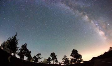 Los telescopios en Calar Alto, Almería, desde el que se han desbierto dos nuevos planetas extrasolares