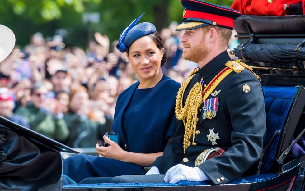 Los duques de Sussex en el Trooping The Colour