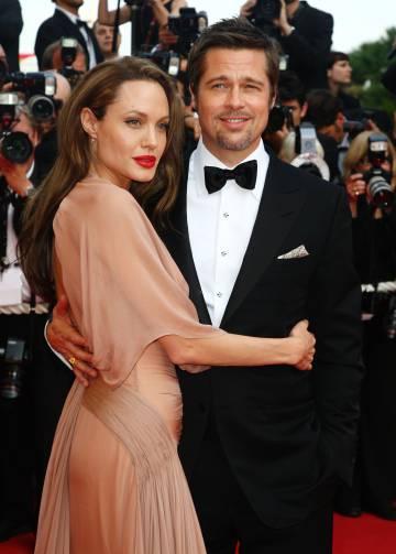 Brad Pitt e Angelina Jolie na estreia de 'Bastardos Inglórios' no Festival de Cannes em 2009. Eles se separaram em 2016.