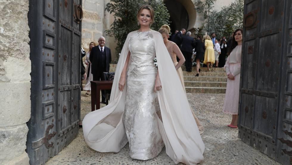 Ainhoa Arteta, en su boda con Matías Urrea en el Puerto de Santa María (Cádiz) el 22 de junio.