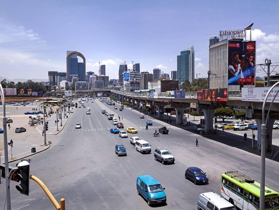Plaza de Meskel, en Adís Abeba.