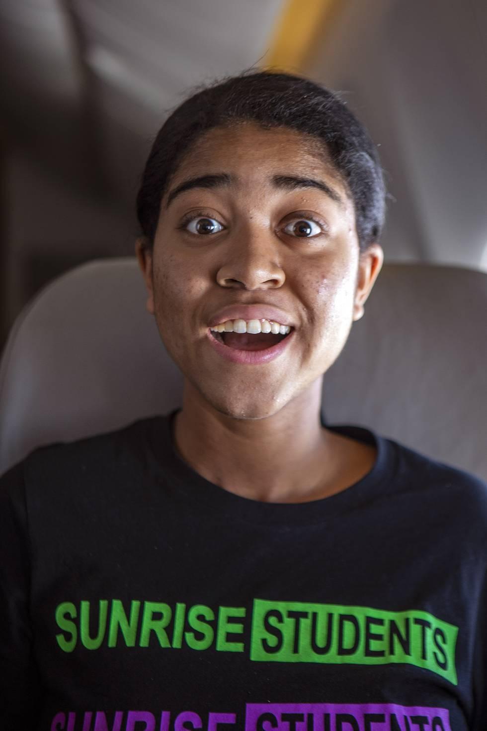 Zuriel Oduwole, en el vuelo de Adís Abeba a Lagos.