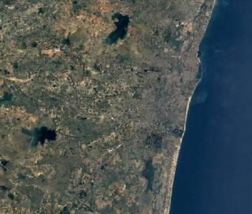 Impacto de la urbanización en la ciudad de Chennai.